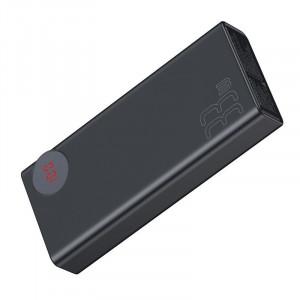 Powerbank 30000mAh cu display Baseus Mulight 2x USB, QC 3.0, PD (negru)