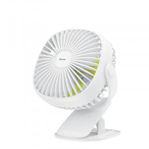 Ventilator de birou Baseus Box cu clema (alb)