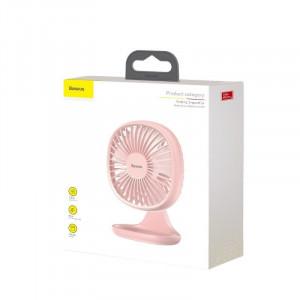 Ventilator de birou Baseus Pudding (roz)