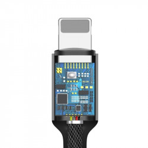 Adaptor audio Baseus L3.5 Lightning la Mini jack 3,5mm, DAC (negru)