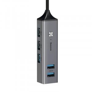 Adaptor HUB Baseus USB cu 3x USB 3.0 + 2x USB 2.0