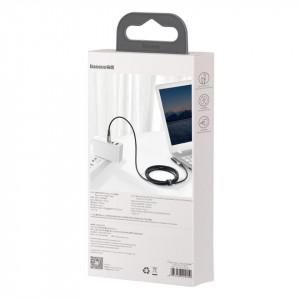 Cablu 2in1 Baseus Flash Series, USB-C la USB-C / cu mufa DC 5.5x2.5mm, 100W, 2m (negru)