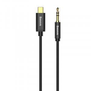 Cablu audio USB-C la Mini jack 3,5mm Baseus Yiven 1.2m (negru)