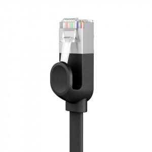 Cablu Ethernet plat Baseus High Speed, Ethernet RJ45, Gigabit, Cat.6, 3m (negru)
