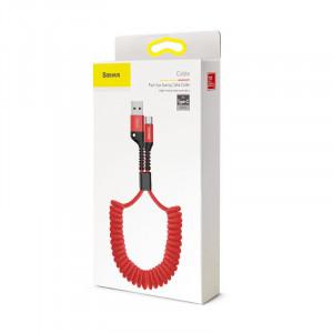 Cablu flexibil USB-C Baseus Spring 1m 2A (rosu)