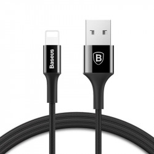Cablu Lightning Baseus cu LED indicator 1m (negru)
