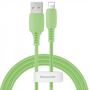 Cablu Lightning USB Baseus Colourful 1.2m 2.4A (verde)