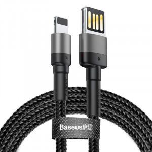 Cablu Lightning USB (USB bilateral) Baseus Cafule 1,5A 2m (gri-negru)