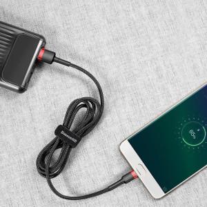 Cablu Micro USB Baseus Cafule 2A 3m (negru-rosu)