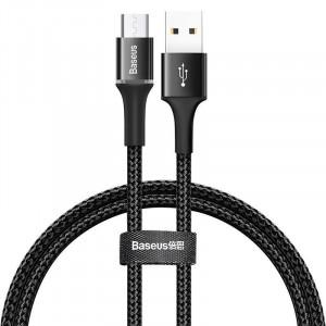 Cablu micro USB cu iluminare LED Baseus Halo 3A 1m (negru)