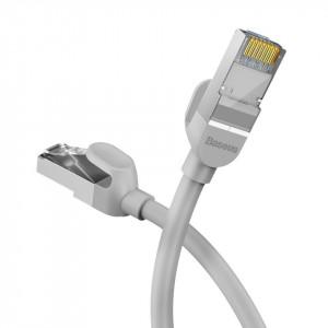 Cablu retea Baseus High Speed, Ethernet RJ45, Gigabit, Cat.6, 10m (gri)