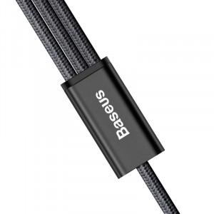Cablu USB Baseus Rapid Series 3in1 Lightning / Micro USB 1,2m - negru