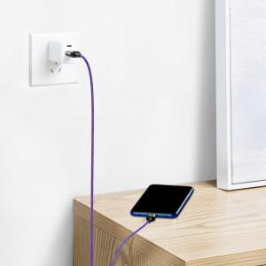 Cablu USB la Micro USB, magnetic Baseus Zinc 2.4A 1m (violet)