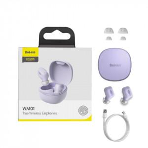 Casti wireless Baseus Encok WM01, Bluetooth 5.0 (Violet)