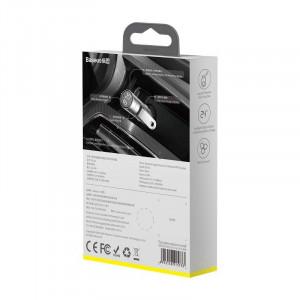 Modulator FM auto Baseus Energy Column, Bluetooth 5.0, 2x USB, 3.1A (argintiu)