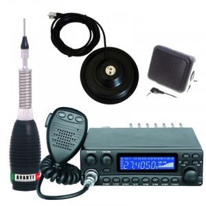 Pachet statie radio CB Avanti Kappa (versiunea PRO) cu antena radio CB Avanti Forte, baza magnetica si difuzor extern DF1