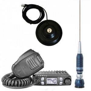 Promotie statie radio CB Avanti Micro + antena CB Sirio Turbo 1000 + baza magnetica