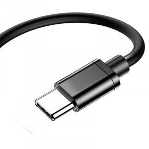 Adaptor Audio Baseus L40 USB-C la Mini Jack 3.5mm i USB-C (negru)