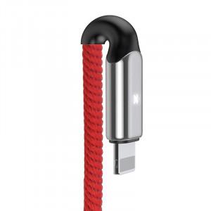 Cablu Lightning cu LED Baseus X-type 1m 2.4A (rosu)