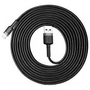 Cablu Lightning USB Baseus Cafule 2A 3m (gri-negru)