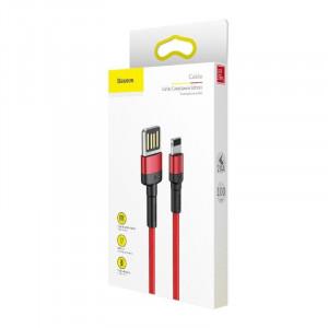 Cablu Lightning USB (USB bilateral) Baseus Cafule 2,4A 1m (rosu)