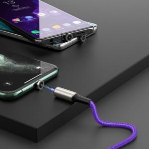 Cablu magnetic Lightning Baseus Zinc 2A 1m (violet)