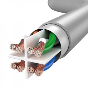 Cablu retea Baseus Ethernet RJ45, Cat.6, UTP, 5m (gri)