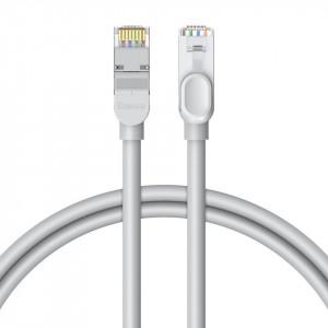 Cablu retea Baseus High Speed, Ethernet RJ45, Gigabit, Cat.6, 1m (gri)