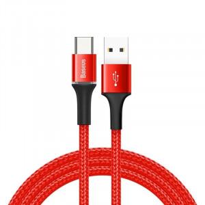 Cablu USB-C cu iluminare LED Baseus Halo 3A 1m (rosu)