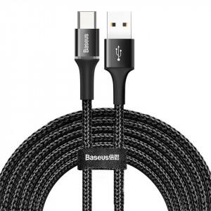 Cablu USB-C cu iluminare LED Baseus Halo 3m 2A (negru)