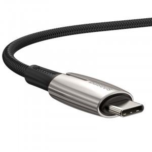 Cablu USB-C la USB-C PD Baseus Water Drop Power Delivery 2.0 60W 1m (negru)