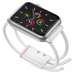 Curea Baseus Let's Go pt Apple Watch 3/4/5 38mm/40mm (alb-roz)