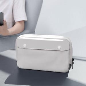 Husa Baseus Basics S pentru accesorii, shockproof, waterproof 220x140x60mm (alb)