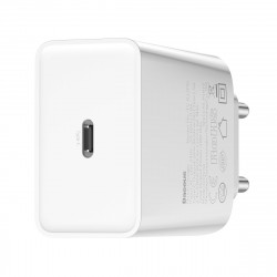 Incarcator retea USB-C PD Baseus Mini, Power Delivery, 18W (alb)