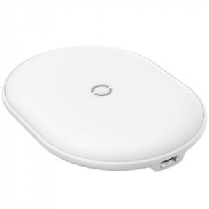 Incarcator wireless Baseus Cobble, 15W (alb)