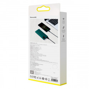 Powerbank Baseus Adaman, 20000mAh, metal, QC 3.0, PD, Huawei SCP, 22,5W (verde)