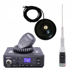 Promotie statie radio CB Avanti Alpha + antena CB Avanti Cento + baza magnetica 145 PL