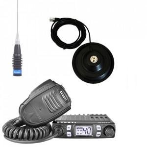 Promotie statie radio CB Avanti Micro + antena CB Megawatt ML 145 + baza magnetica