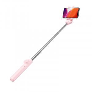 Selfie stick, trepied Bluetooth Baseus Lovely (roz)