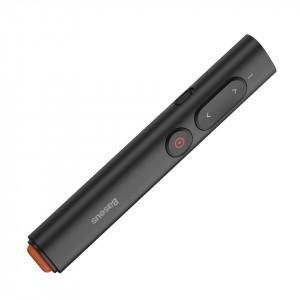 Telecomanda cu aratator laser portocaliu Baseus Orange Dot cu baterii (negru)