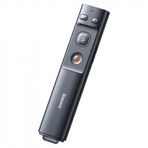 Telecomanda cu aratator laser portocaliu Baseus Orange Dot (gri)