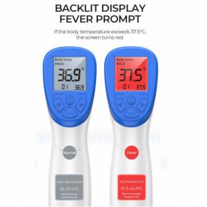 Termometru cu Infrarosu contactless Afisaj Digital LCD extra large, Alarma temperatura mare, Timp masurare 0,3 sec, Distanta masurare 1-2 cm, frunte si suprafete