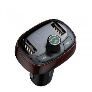 Transmitator FM Baseus cu Bluetooth USB microSD (maro)
