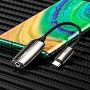 Adaptor Audio Baseus L60 USB-C la Mini Jack 3.5mm i USB-C, 1A