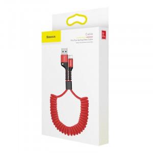 Cablu flexibil Lightning Baseus Spring 1m 2A (rosu)