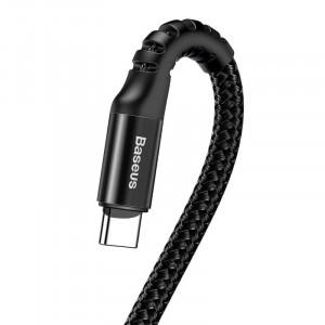 Cablu flexibil USB-C Baseus Spring 1m 2A (negru)