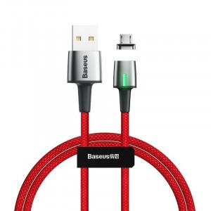 Cablu magnetic micro USB Baseus Zinc 2.4A 1m (rosu)