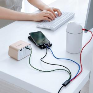 Cablu USB Baseus Fast 4in1 2xUSB-C / Lightning / Micro 3,5A 1,2m (negru)