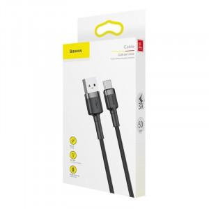 Cablu USB-C Baseus Cafule 3A 0.5m (gri-negru)