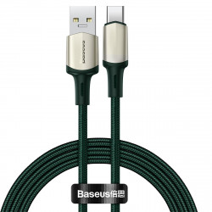 Cablu USB-C Baseus Cafule, VOOC, QC, 5A, 1m (verde)